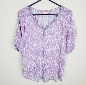 Juicy Couture Purple Leapard Blouse •      i19xx